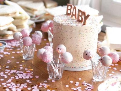Lekkernijen voor de babyshower sweettable